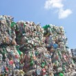 Stock Photo: Stack of plastic bottles ready for recycling