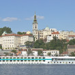 Stock Photo: Belgrade river harbour and old town