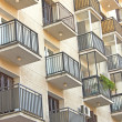 A lot of metal Balconies on modern building — Stock Photo