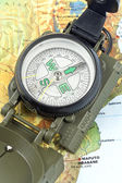 Compass on map of Africa — Stock Photo