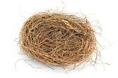 Empty nest isolated on white — Stock Photo