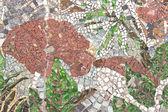 Marmeren steen mozaïek patroon als achtergrond — Stockfoto