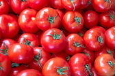 Fresh tomatoes as background — Stock Photo