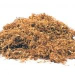 kupie tytoń suszony na białym tle — Zdjęcie stockowe