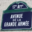 Grande Armée Avenue in Paris — Stock Photo