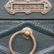 Letterbox and knocker — Stock Photo