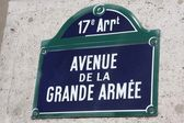 Grande Armée Avenue in Paris — Stock Photo