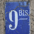 Number 9 bis - Stock Photo