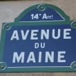 Avenue du Maine — Foto Stock