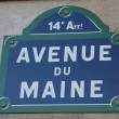 Avenue du Maine - Stock Photo