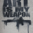 Art is my weapon - Stockfoto