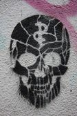 Skull Graffiti — Foto de Stock