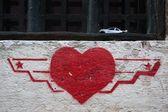 Graffiti de coeur — Photo