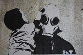 Nuclear Graffiti — Stock Photo