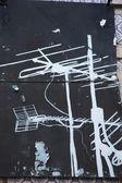Antenna Graffiti — Stock Photo
