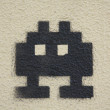 Space Invader Graffiti — Stock Photo