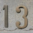 Stock Photo: Number 13