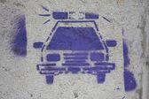 Police Graffiti — Stock Photo