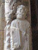 Religious statue in Santiago — Stock Photo