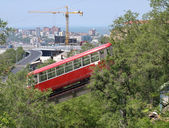 Funicular in city Vladivostok — Stock Photo
