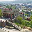 The building of the funicular. Vladivostok. - Stock Photo