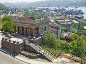 The building of the funicular. Vladivostok. — Stock Photo