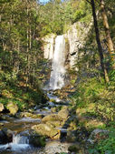 Benevskoy Waterfall on Elomovsky Spring in the Russian — Stock Photo