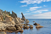 Rocks Cape Laplace on a sunny day — Stock Photo