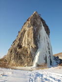 Icefall in mountains — 图库照片