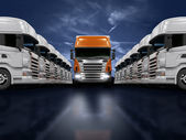 Trucks presentation — Stock Photo