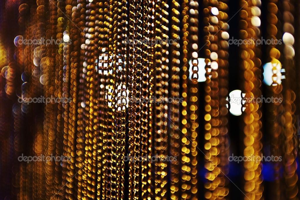 Bokeh De Corrente Dourado Com Fundo Preto E L 226 Mpadas