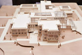 Paper model of building — Stock Photo