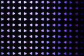 Bokeh triangles purple and blue — Stock Photo