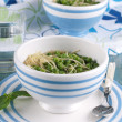 Soup with green pease — Stock Photo