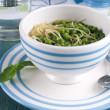 Stock Photo: Soup with green pease