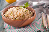 Risotto with zucchini — Stock Photo