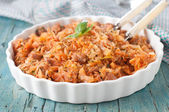 Cooked cabbage — Stock Photo