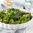 Dish of broccoli - Stock Photo