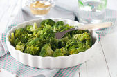 Dish of broccoli — Stock Photo
