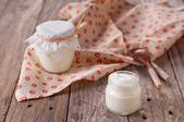 Homemade yoghurt — Stock Photo