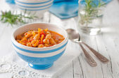 Soup with chick-pea — Stock Photo