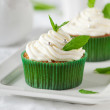 Sweet mint cupcake — Stock Photo