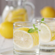 Cold lemon water — Stock Photo