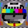 Television test screen in case of no signal — Stock Video