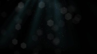Black Festive Christmas elegant abstract background with lights and snowflakes — Vídeo de Stock