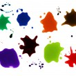 Set of colorful blots on the white background — Lizenzfreies Foto