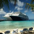 Stock Photo: Cruise ships in port