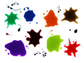 Set of colorful blots on the white background — Stock Photo