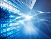 Blue technology background — Stock Photo