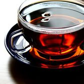 茶玻璃关闭 — 图库照片